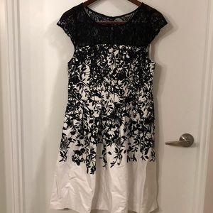 Maurice's black/white cocktail dress 👗